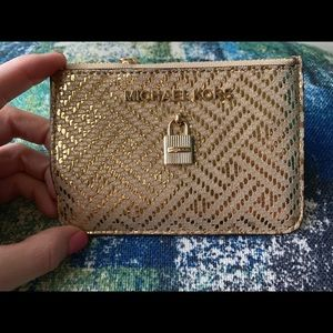 NWT💛Michael Kors Gold Adele Coin Pouch